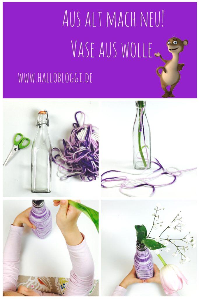 Aus alt mach neu: www.hallobloggi.de Wir basteln eine Vase zum Muttertag