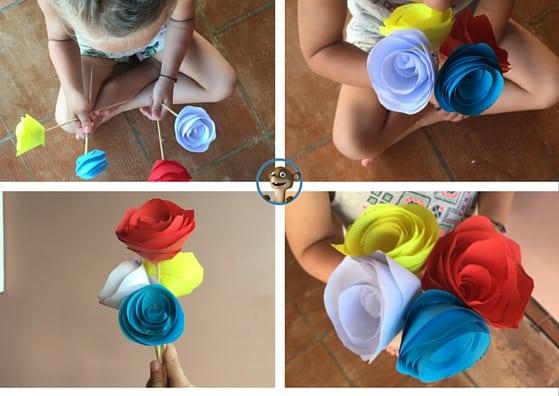 Papierblume zum Muttertag und Vatertag herstellen!