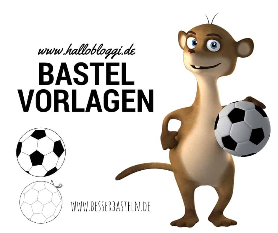 Bastelvorlagen mit dem Thema Fußball und Vorlagen für Schultüten www.hallobloggi.de