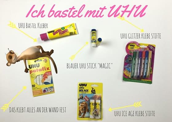 Mit Uhu Produkten basteln www.hallobloggi.de