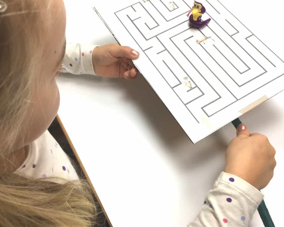 Magnet spielen Labyrinth