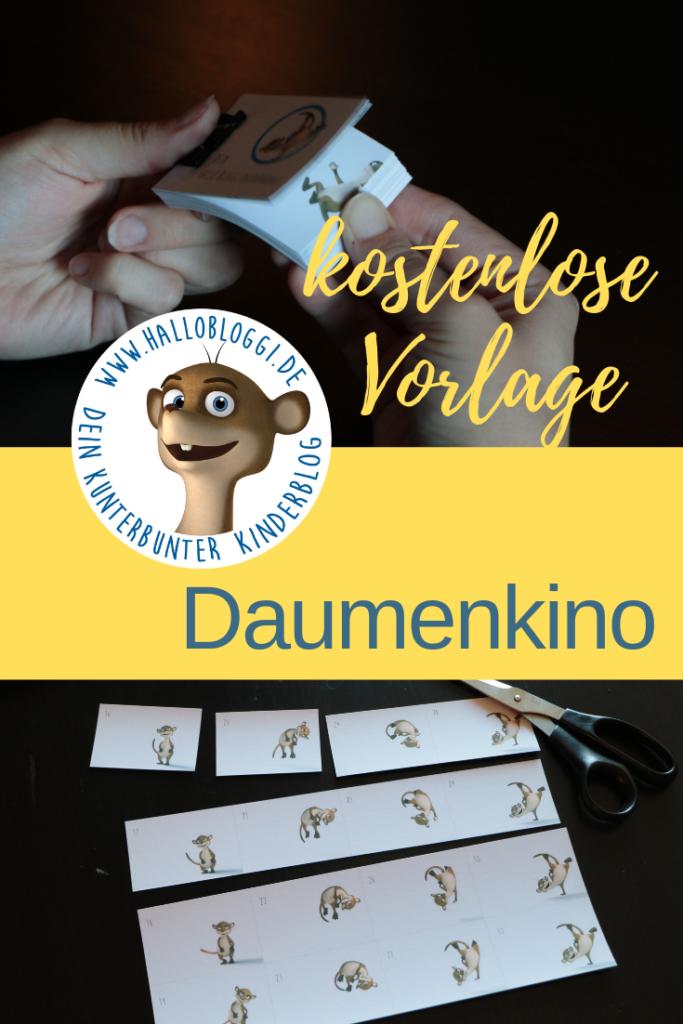 Daumenkino Vorlage für Kinder