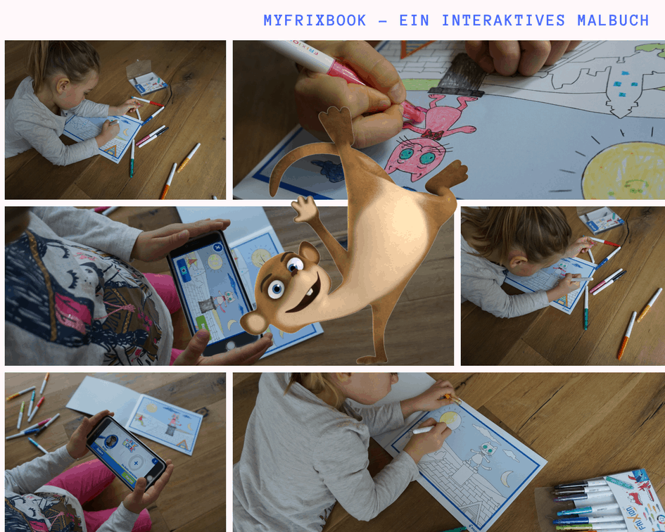 Myfrixbook ein interaktives Malbuch