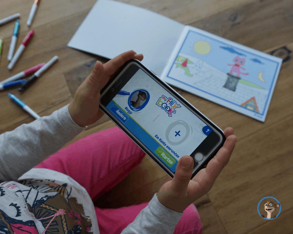myFrixbook - ein interaktives Malbuch für Kinder. Bloggi hat es für ...