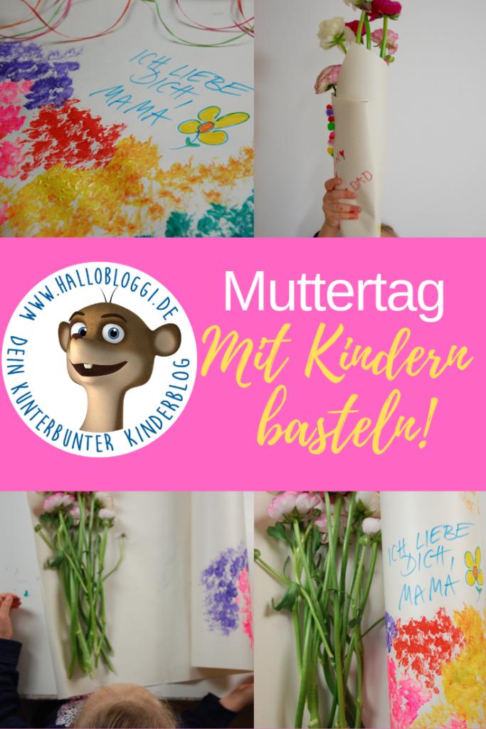 Verpackung der Blumen kreativ bemalen Mizttertag mit Kindern basteln