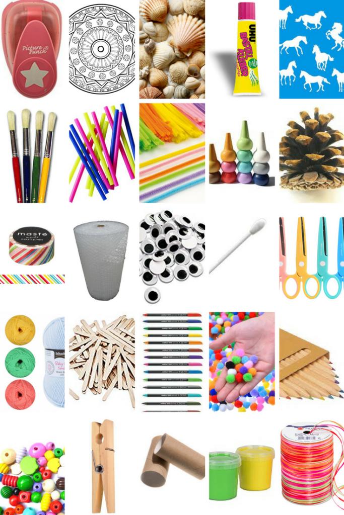 Bastelmaterial für Kinder