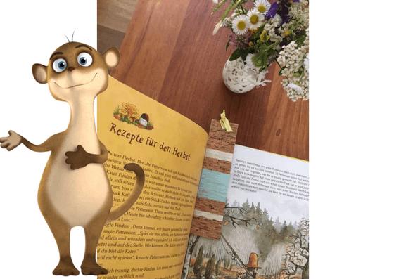 Lesezeichen aus Kork mit Kindern basteln
