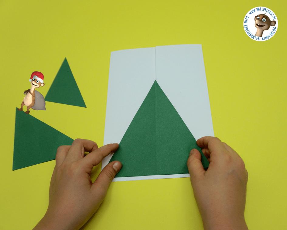 Einfache weihnachtskarten mit kindern basteln f r jedes for Weihnachtskarten mit kindern basteln