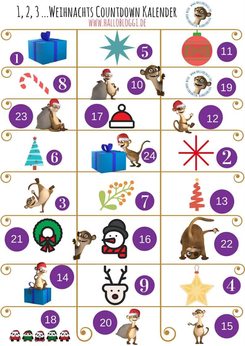 Der Hallo Bloggi Countdown Kalender Zum Kostenlosen Download