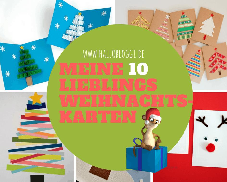 Weihnachtskarten mit kindern basteln hier sind meine top 10 bloggi - Weihnachtskarten basteln mit kindern ...