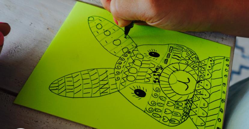 Hallo Bloggi Osterkarte mit Kindern selber basteln