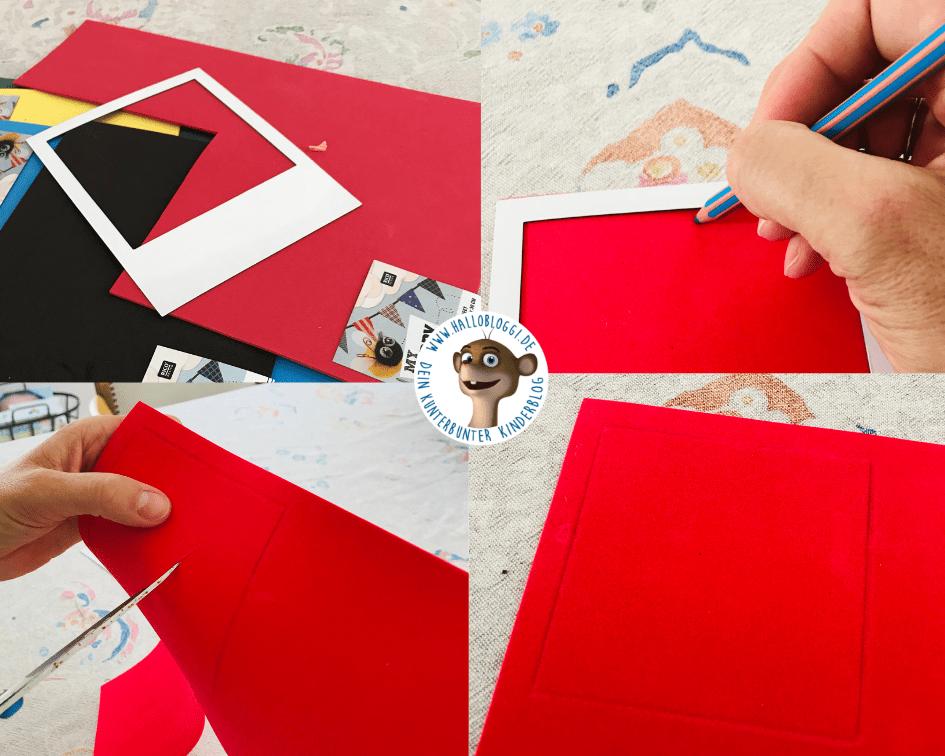 DIY Bilderrahmen Anleitung aus Moosgummi