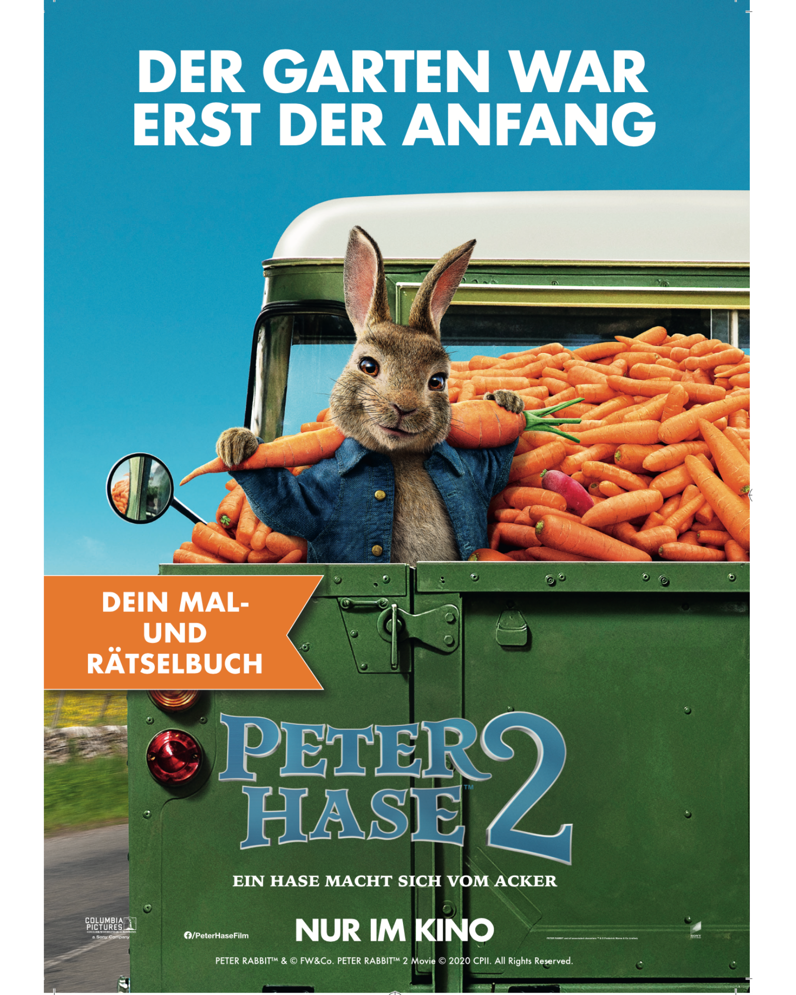 Peter Hase 2 Malbuch